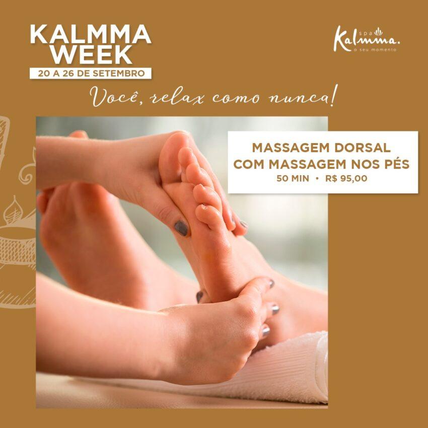 Kalmma Week - Massagem Dorsal com Massagem nos Pés 1